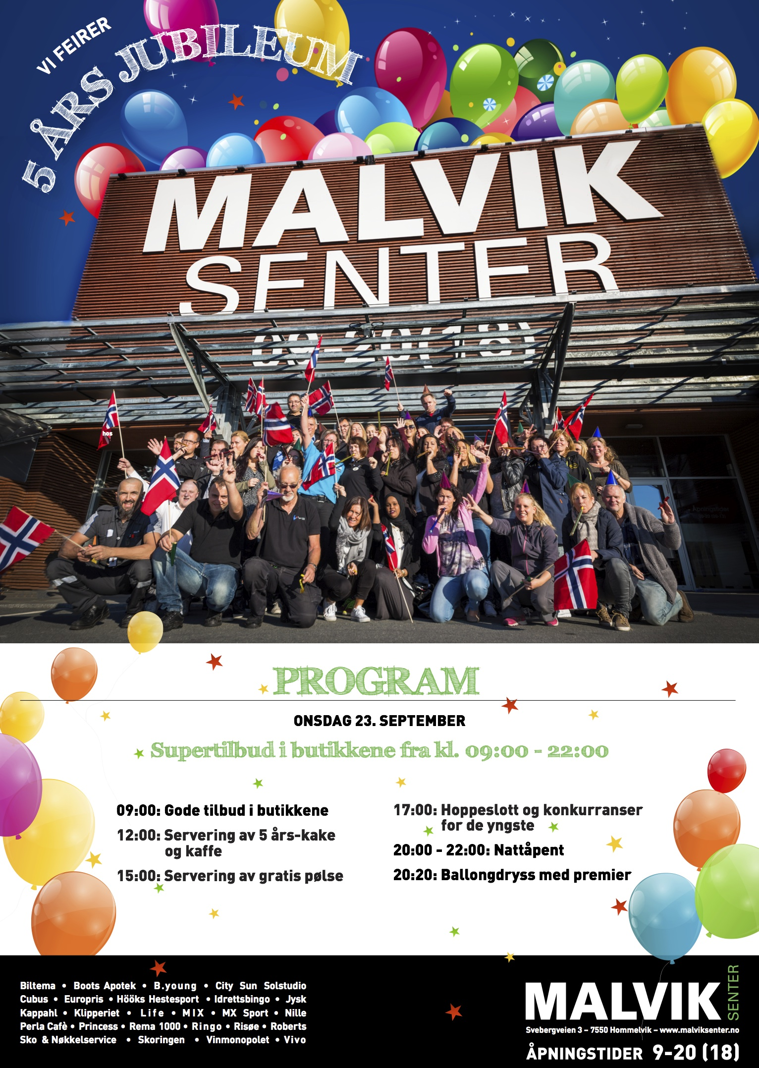 5 års Jubileum For Malvik Senter