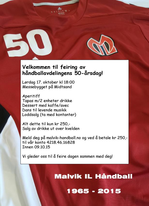 Malvik IL Håndball – 50 år